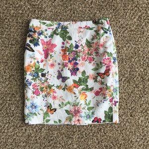 LOFT Foral Skirt